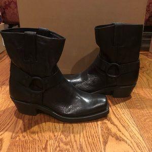 Frye men's harness boots black sz 9 new